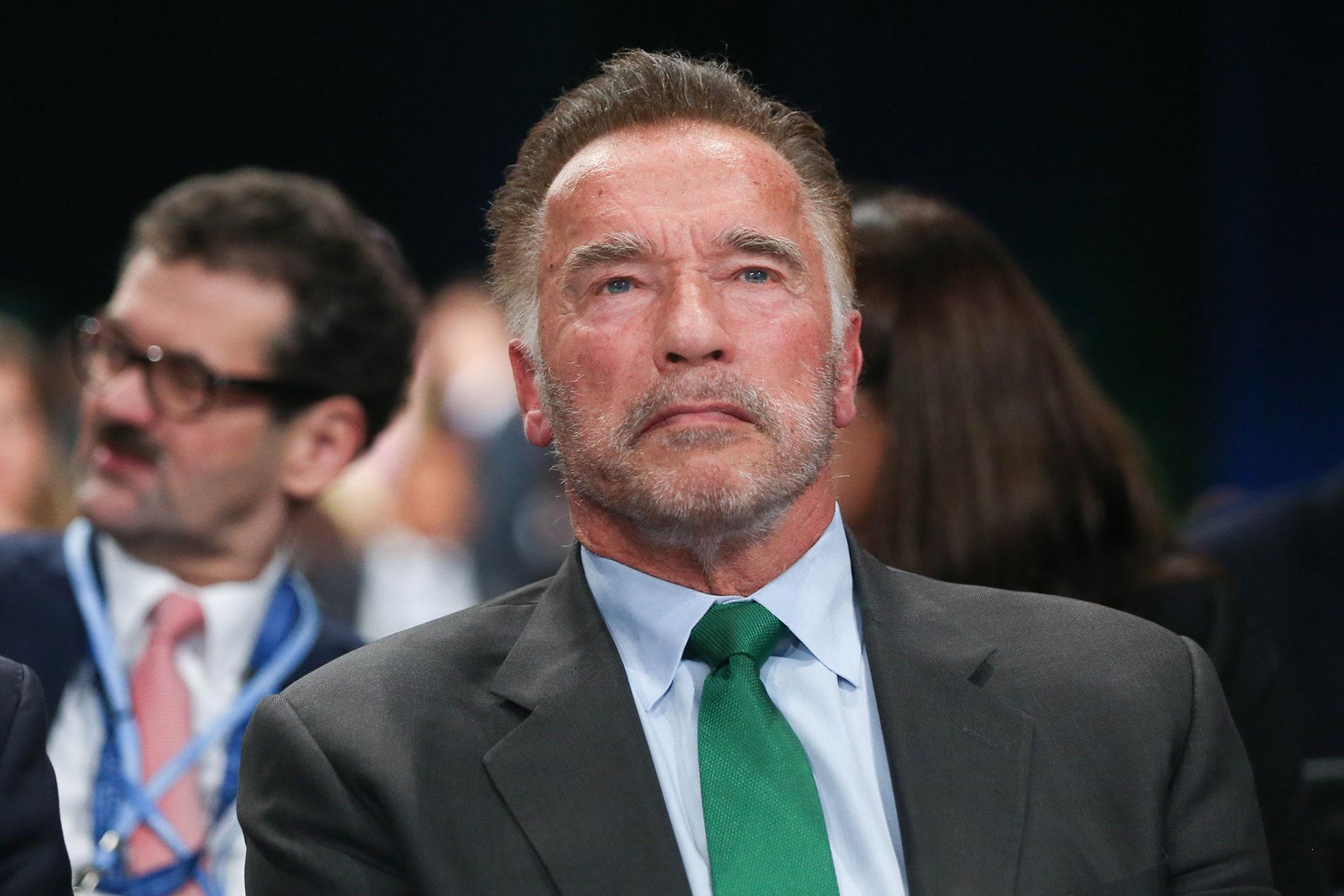 Arnold Schwarzenegger es pateado al azar en un evento deportivo familiar