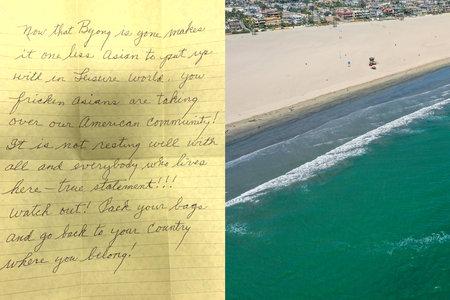 Η χήρα στο σπίτι συνταξιοδότησης παίρνει απειλητική, αντιασιατική επιστολή που χαίρεται για το θάνατο του συζύγου, λέει η αστυνομία