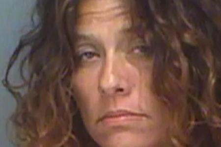 Mujer que consumía metanfetamina es arrestada después de que ella se escapó para escapar de la 'araña gigante', dicen los policías