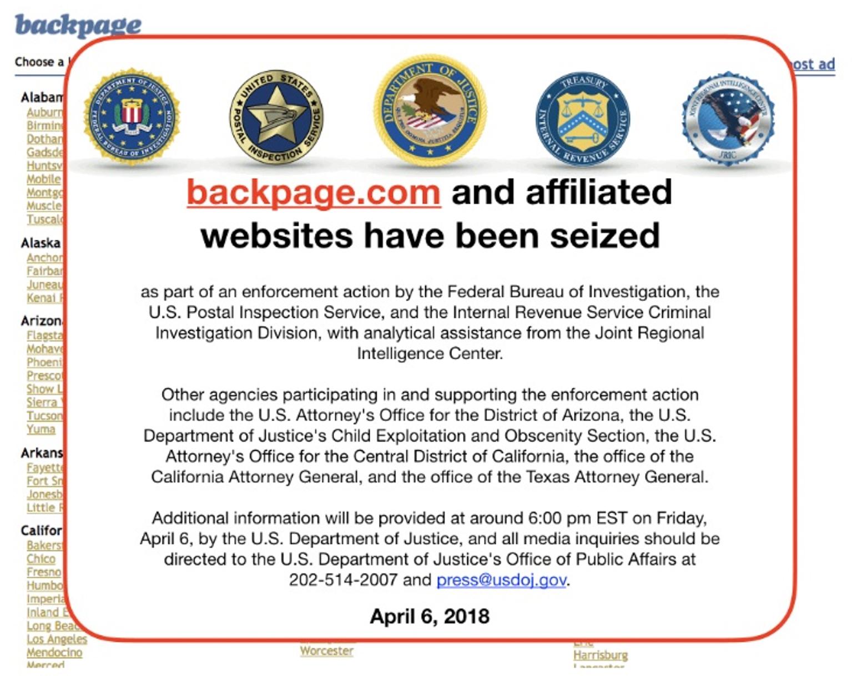 Backpage.com incautado por federales, cofundador Michael Lacey acusado de investigación de tráfico de personas
