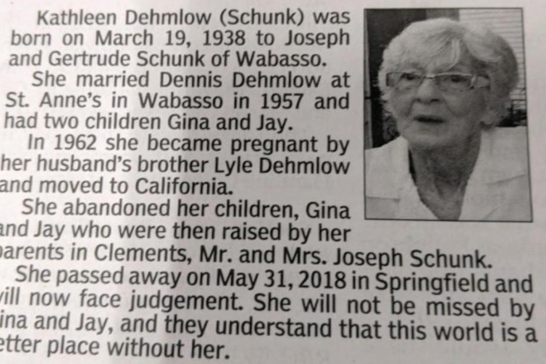 Je li ovo ikada najbrutalnija nekrologija?