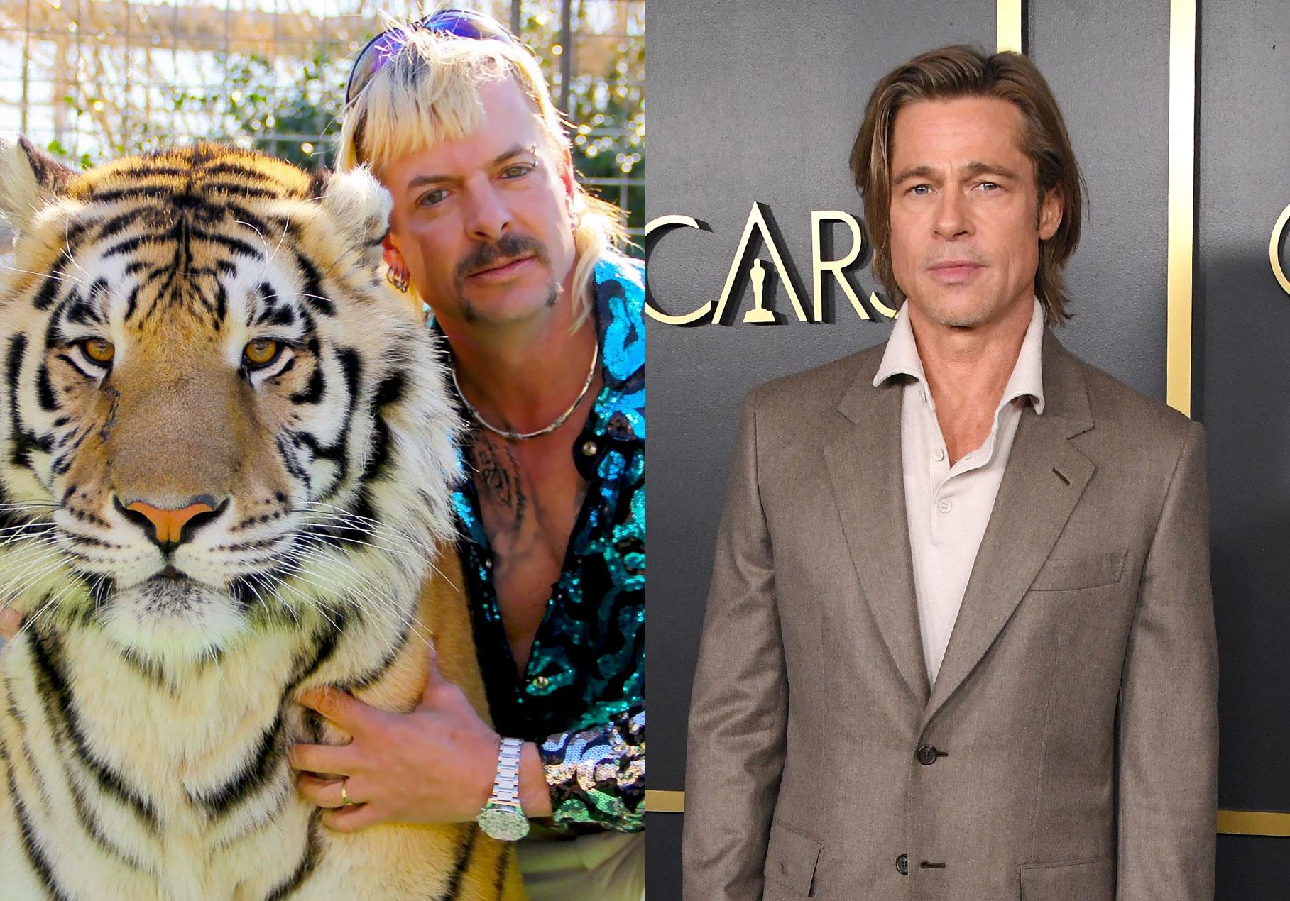 Ο Joe Exotic φέρεται να λέει ότι θέλει τον Brad Pitt ή τον David 'Joe Dirt' Spade για να τον παίξει στην ταινία για τη ζωή του
