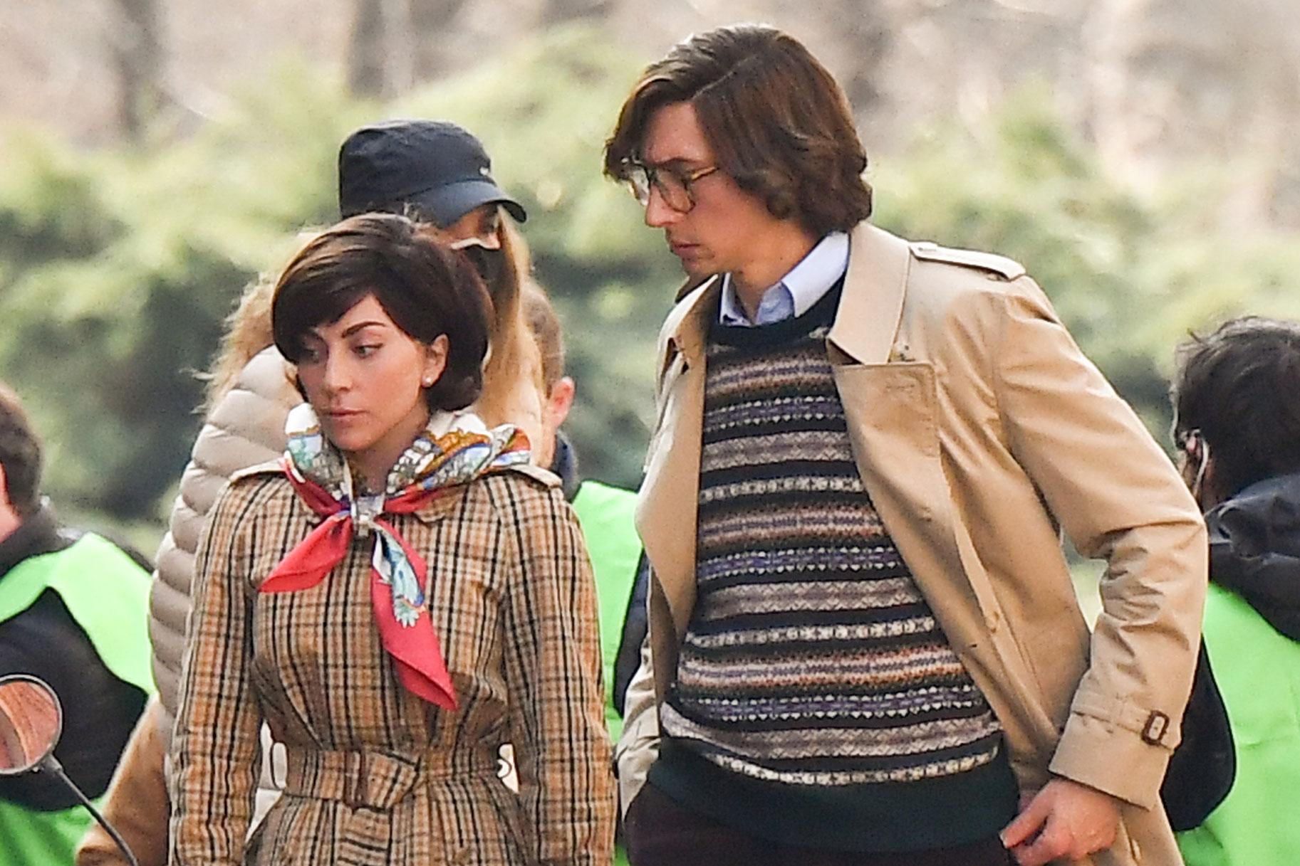 Първи поглед към Лейди Гага и Адам Шофьор във филма за убийството на Гучи