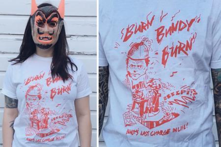 Ang Kuwentong Sa Likod ng 'Mga T-Shirt na' Burn Bundy Burn 'Na Nasa Kahit saan Sa panahon ng Pagpapatupad ni Ted Bundy