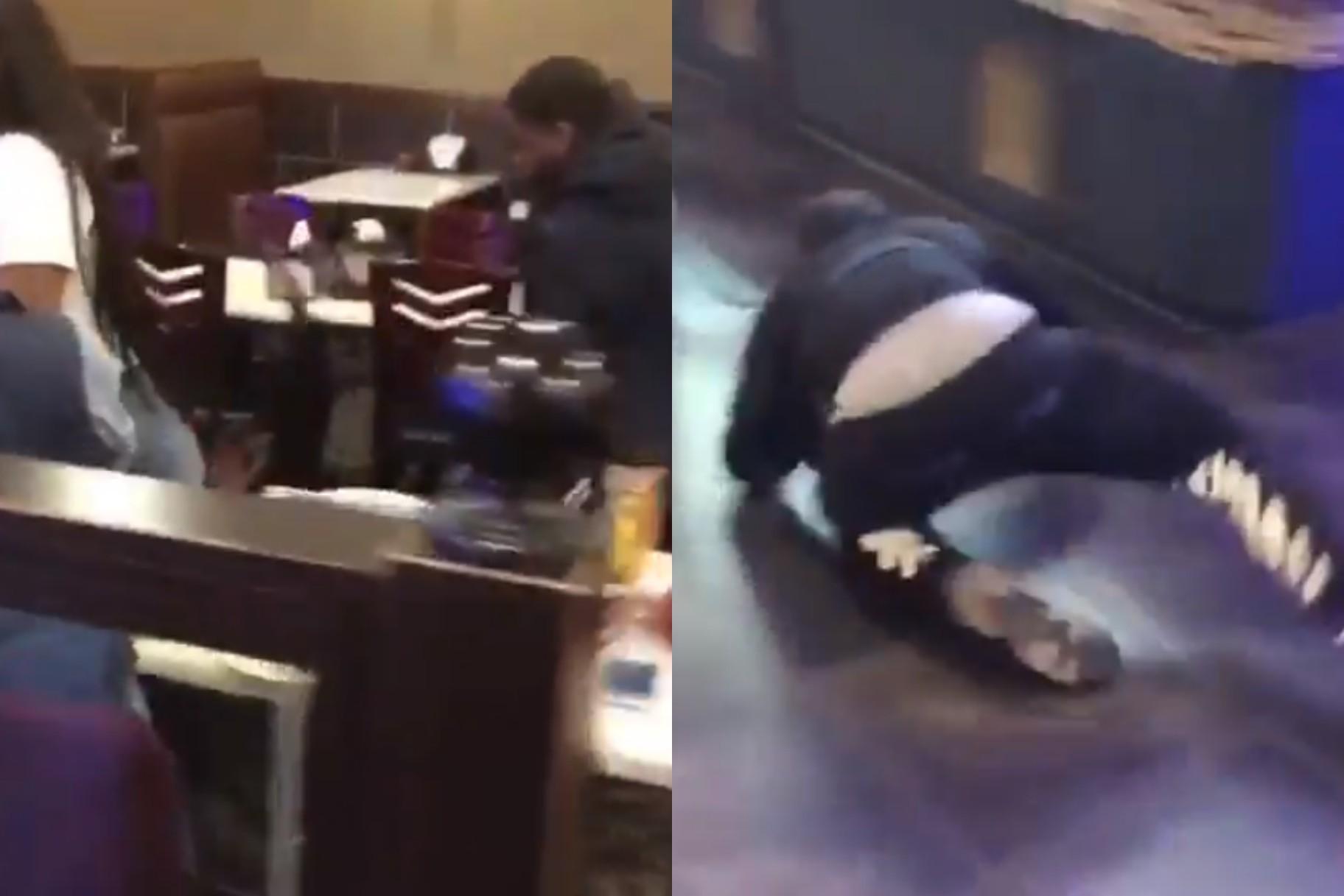 El raper Hell Rell va saltar a un restaurant davant de la seva família (vídeo)
