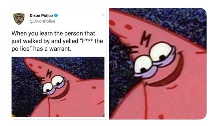 Illinois Police Tweets Evil Spongebob Meme ... O odvetných zatknutiach